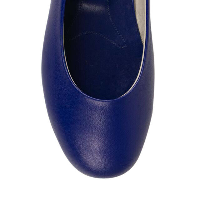 Leather Ballet Flats - Royal Blue