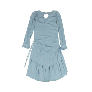 Georgette Long Sleeve Dress - Light Blue