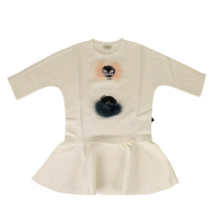 Cotton Fur Bugs Peplum Top - Ivory