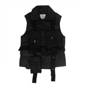 Collared Utility Vest - Navy Blue