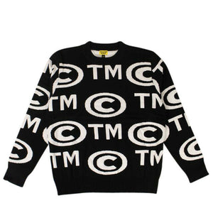 Knit 'Trade Mark' Sweater - Black