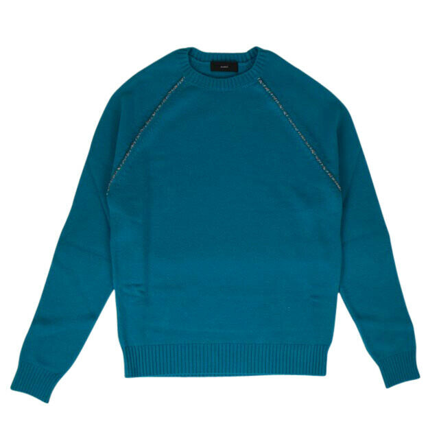 'Patches' Raglan Sweater - Aquamarine Green