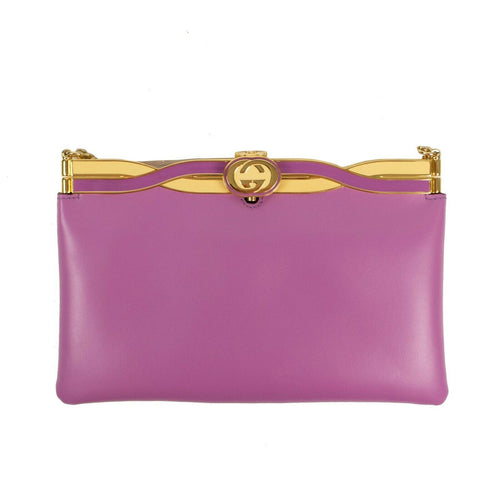 Broadway Leather Cross Body Bag - Purple