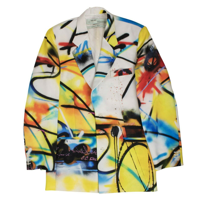 Futura Spray Blazer Jacket - White