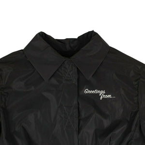 'Recovery' Windbreaker Coat - Black