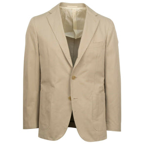 Drop 8 Cotton 3 Roll 2 Button Sport Coat - Tan