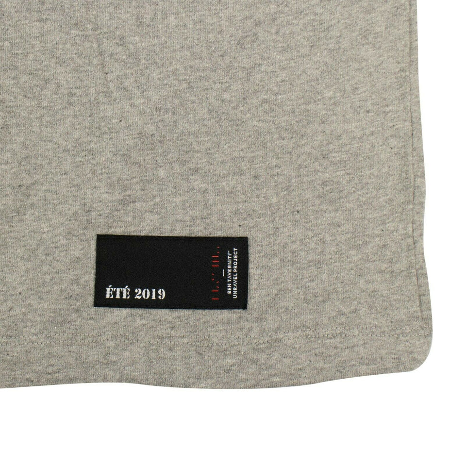 Cotton Drawstring Long Sleeve T-Shirt - Gray