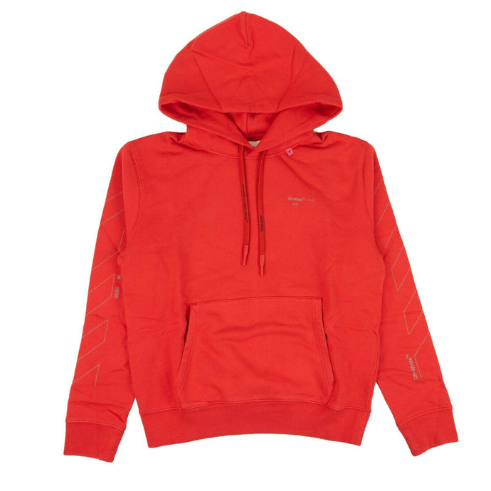 'Diag' Unfinished Hoodie - Red