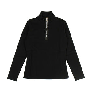 Polyamide Quarter Zip Workout Top - Black