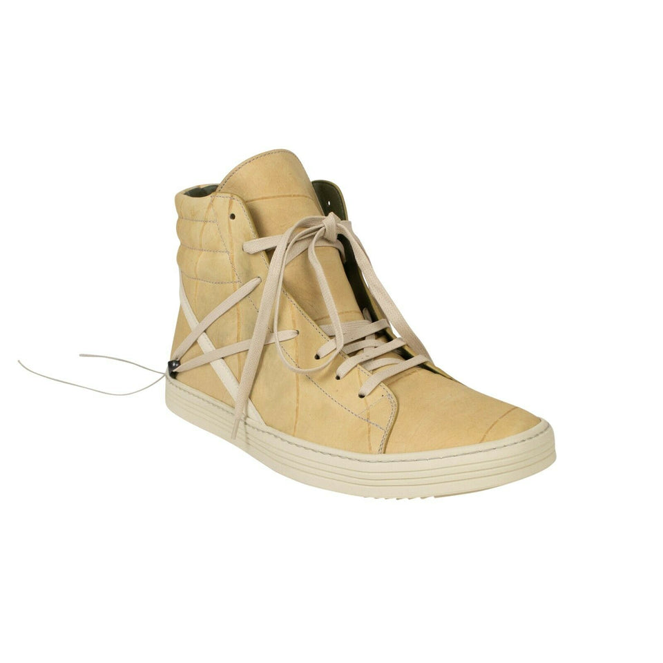 'Geothrasher' High Sneakers - Natural/Milk