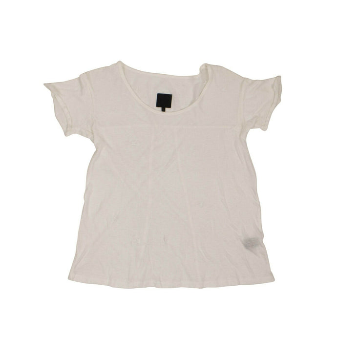 Cotton 'Jewel' Short Sleeves T-Shirt - White