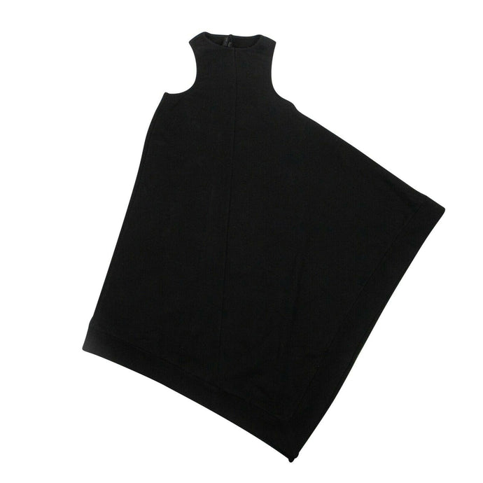 Cotton Racerback Minimal Dress - Black