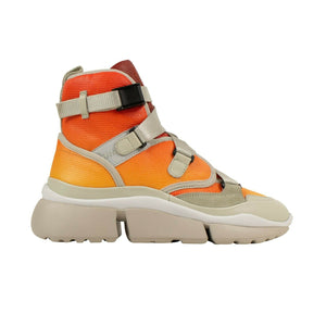 Nappa 'Sonnie' High-Top Sneakers - Orange