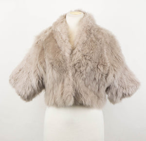 Cashmere Fur Shearling Leather Jacket - Gray