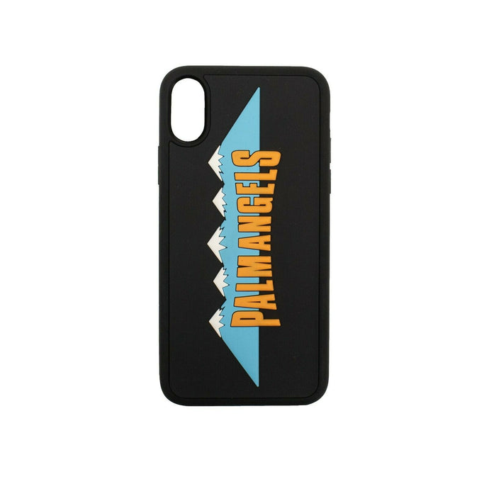 Rubber Mountain Logo Detail iPhone X Phone Case - Black