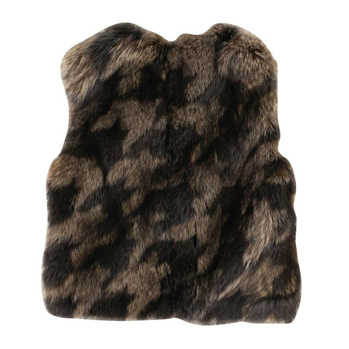 Pellicciai Fur Vest - Brown/Gray