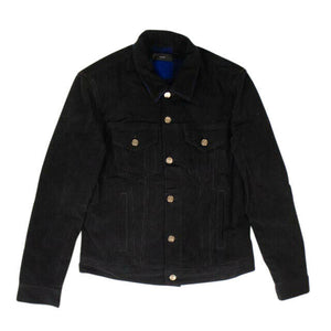 Corduroy 'Embassy' Checkered Inserts Jacket - Black