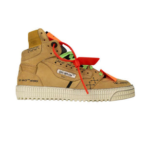'Off-Court' High-Top Sneakers - Brown