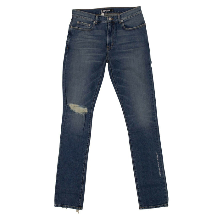 Denim Slash Skinny Jeans - Blue
