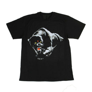 Short Sleeves Panther T-Shirt - Black