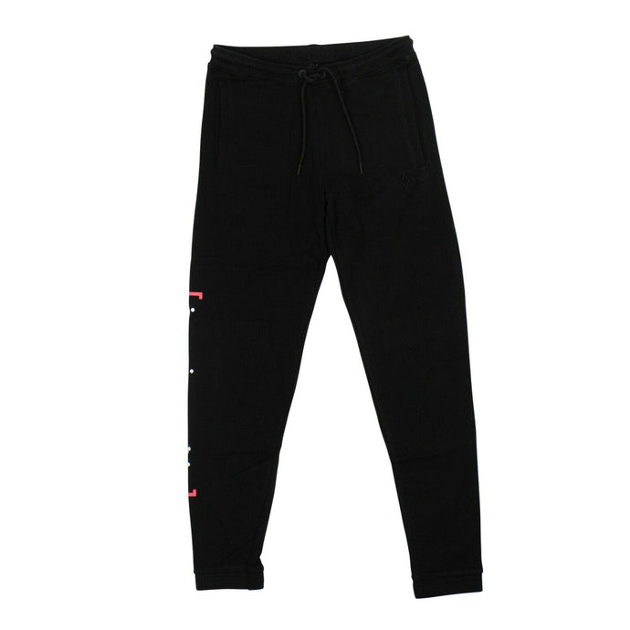 Cotton 'Braille' Track Pants - Black