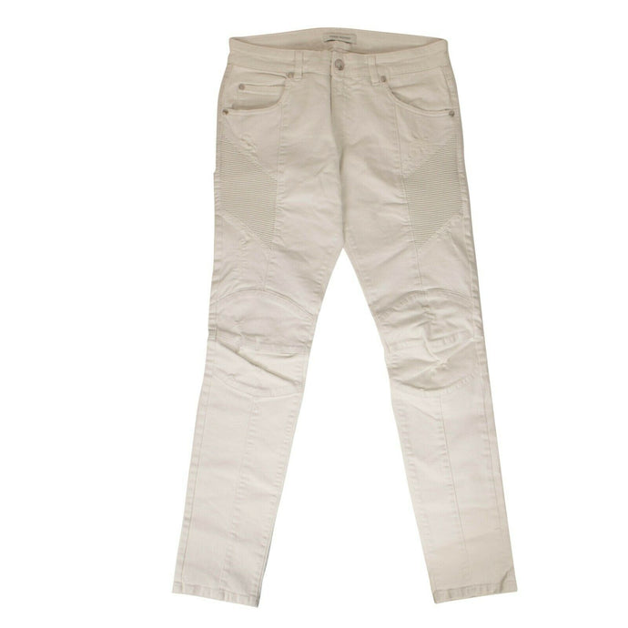 Cotton 'Distressed Jeans' - White