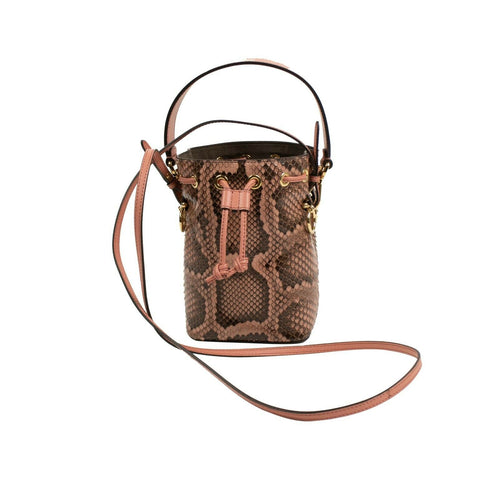 Small Python Mon Tresor Bucket Bag - Pink