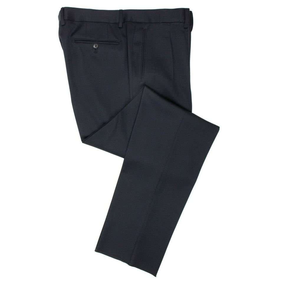 Wool Dress Pants - Navy Blue