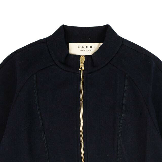 Long Sleeve Zip Sweatshirt - Navy Blue