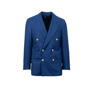 Drop 7 Double Breasted Wool Sport Coat - Blue