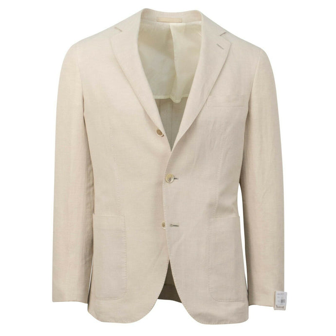 Drop 8 Linen Blend 3 Roll 2 Button Sport Coat - Tan