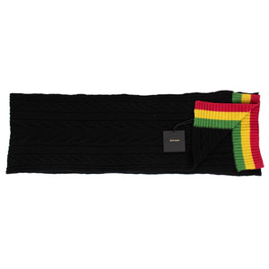 Black Cable Knit Tennis Scarf