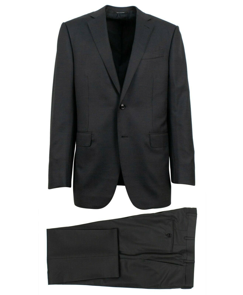 ERMENGILDO ZEGNA SU MISURA Wool Two Button Suit - Gray
