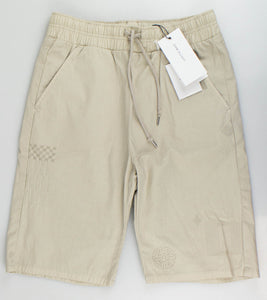 Cotton Embroidered Shorts - Tan