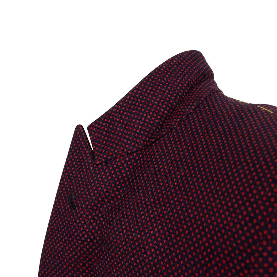 Drop 10 Wool Two Button Sport Coat - Maroon