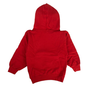 'Embroidered' Kid's Hoodie Sweatshirt - Red