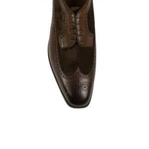 Leather Lace Up Wing Tip Oxfords