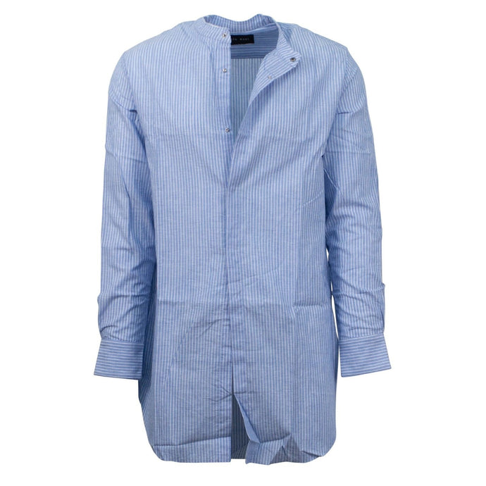 Malibu Mid Length Striped Shirt - Blue