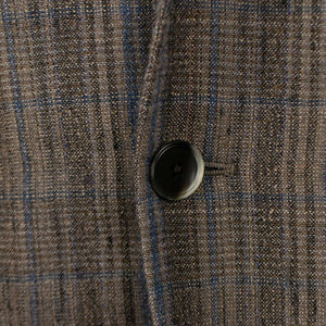 Drop 8 Plaid Two Button Wool Blend Sport Coat - Brown