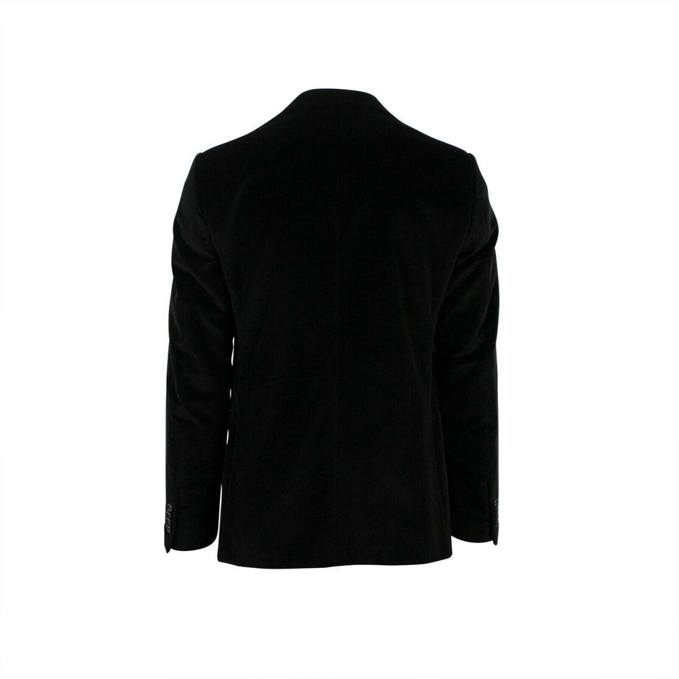 Drop 8 Velvet Two Button Cotton Sport Coat - Black