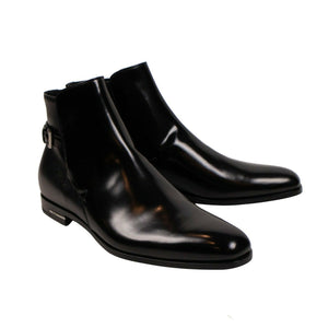 Leather Chelsea Ankle Boots - Black