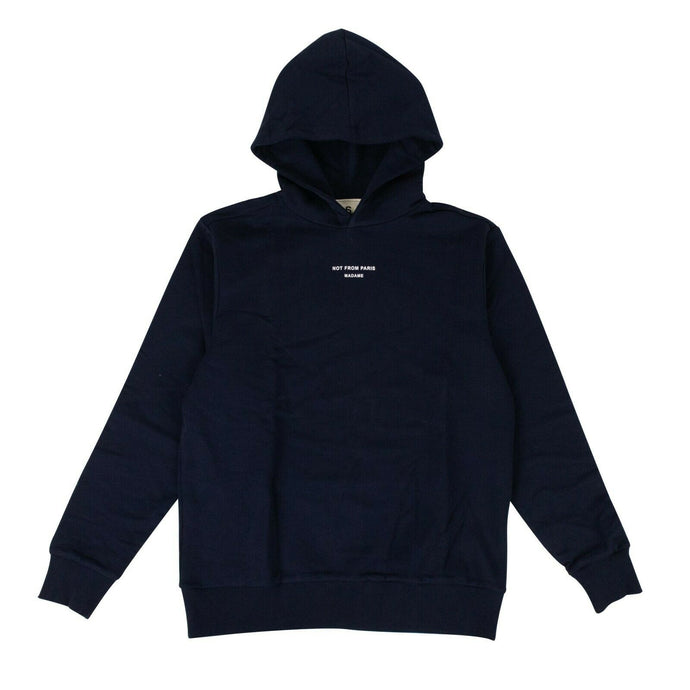 Cotton 'NFPM' Hoodie Sweatshirt - Navy Blue