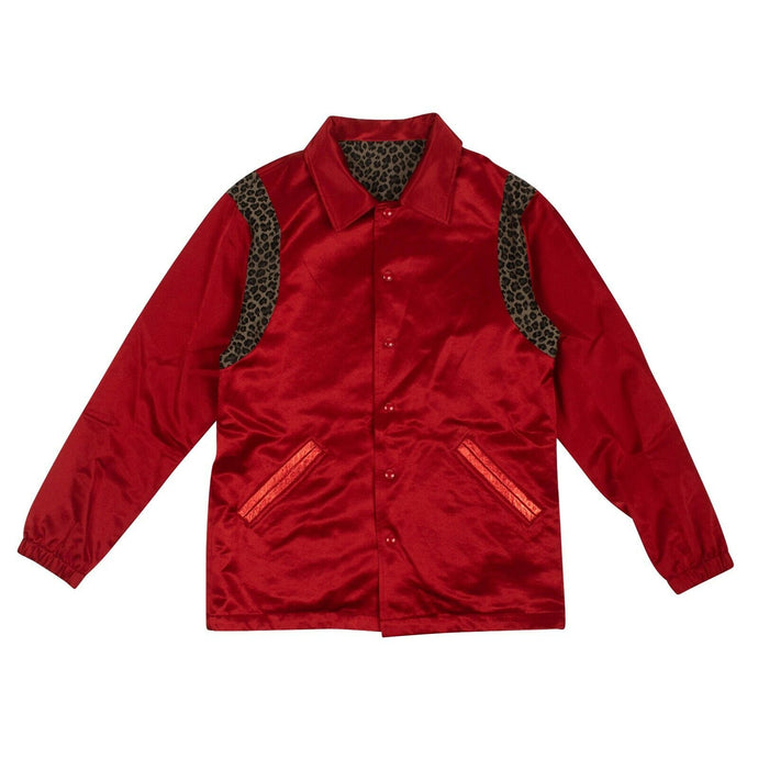Satin Reversible Coaches Jacket - Red