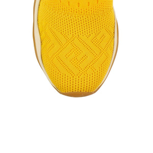 High Tech Jacquard Mid-Top Sneakers - Yellow