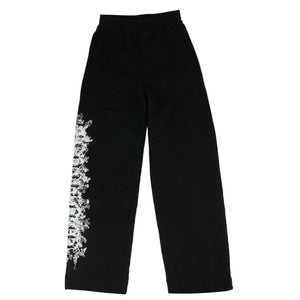 Graphic Print Sweat Pants - Black
