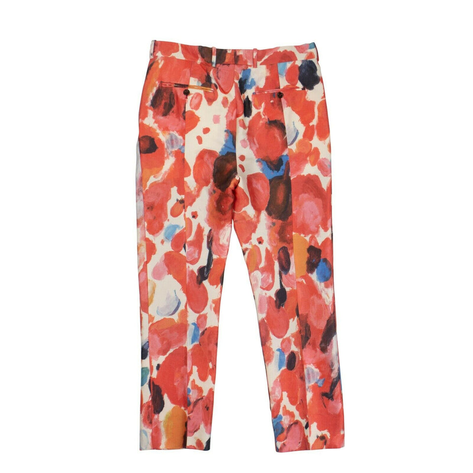 Painted Wall Print Pants - Multicolored
