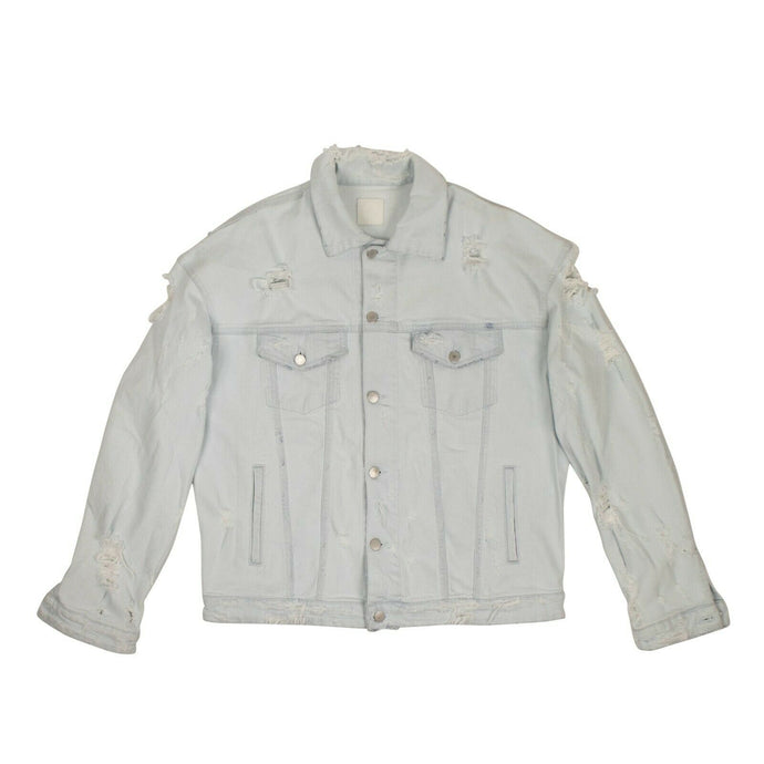 Denim 'Manny Mermaid' Jacket - Light Blue