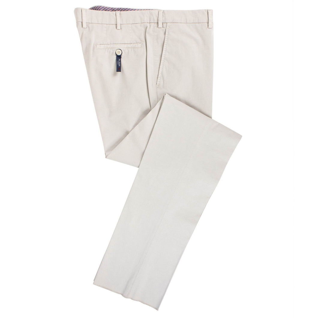 Beige Cotton Blend Dress Pants