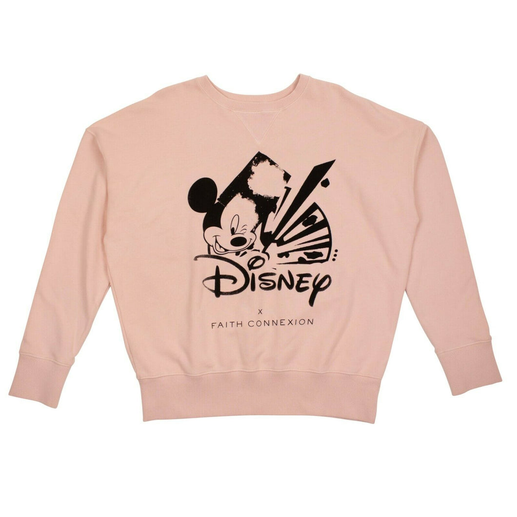 FAITH CONNEXION x DISNEY Cotton Pullover Sweater - Pink