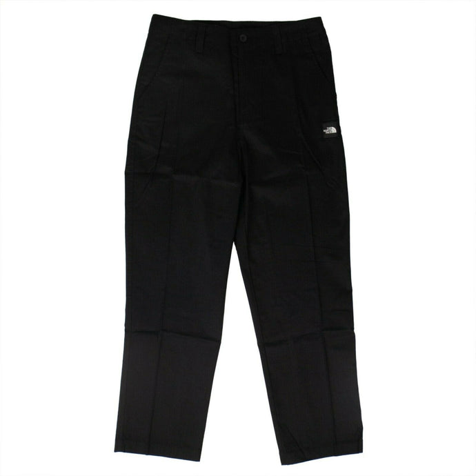 Cotton 'Side Slack' 3/4 Pants - Black